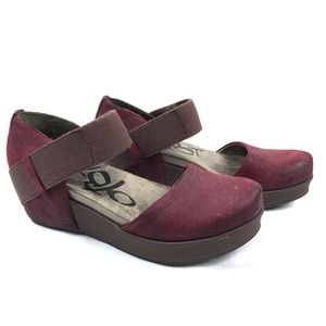 OTBT | Mary Jane Suede Migrant Two Burgundy Red